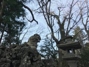 筒口神社 獅子
