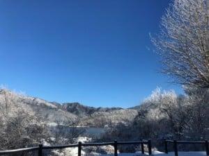 館前からの雪景色